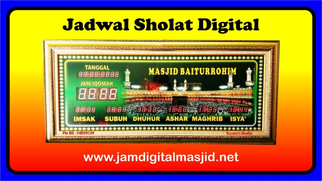 Jam Digital Masjid Ads